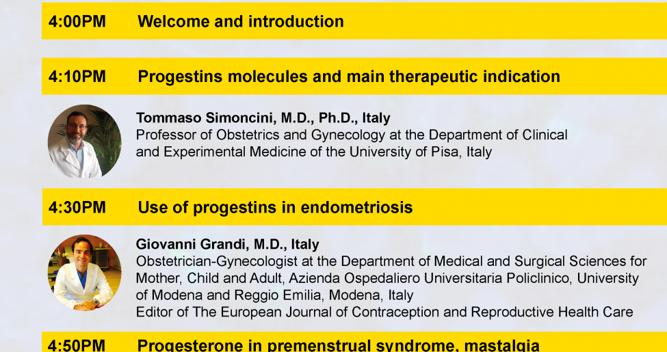 Free ESC Webinar | Progesterone and progestins | 24.03.2021