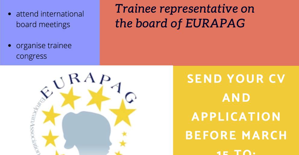 We are looking for you! EURAPAG Trainee representative
